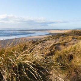 Changing Light on Camber Sands, greeting card by Nicky Flint